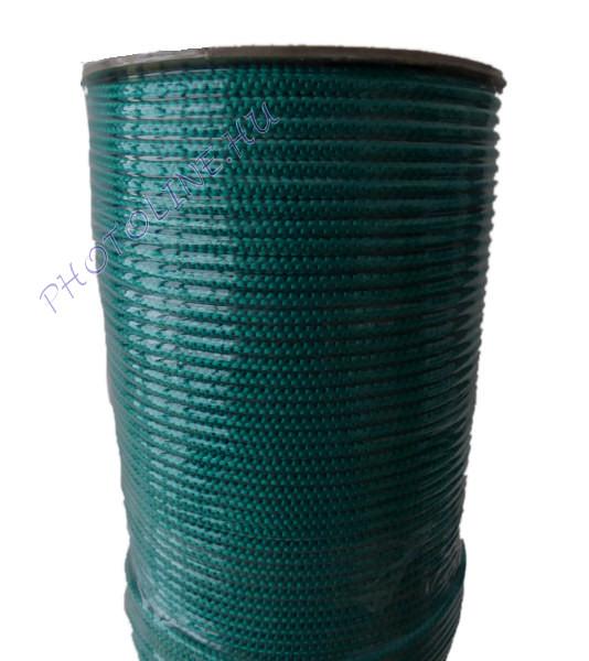 Kötött PP kötél, 4 mm, zöld