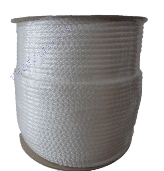 Kötött PP kötél, 4 mm, fehér