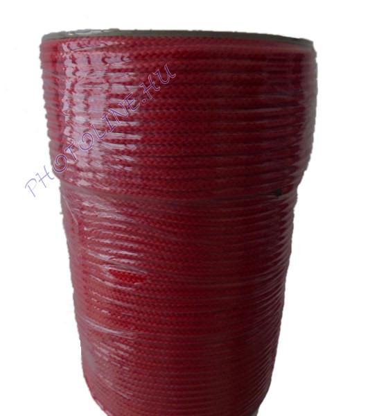 Kötött PP kötél, 4 mm, piros