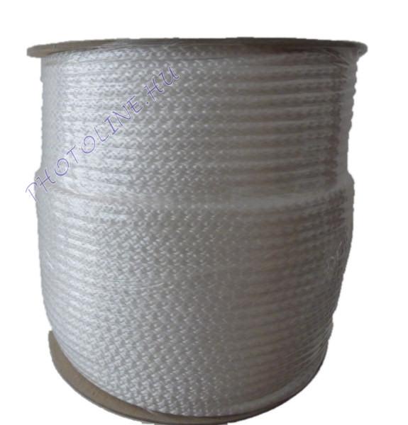 Kötött PP kötél, 5 mm, fehér