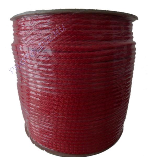 Kötött PP kötél, 6 mm, piros