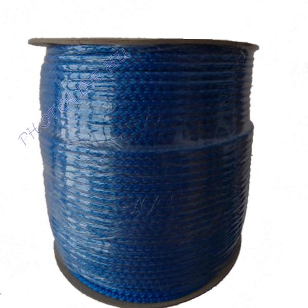 Kötött PP kötél, 6 mm, kék