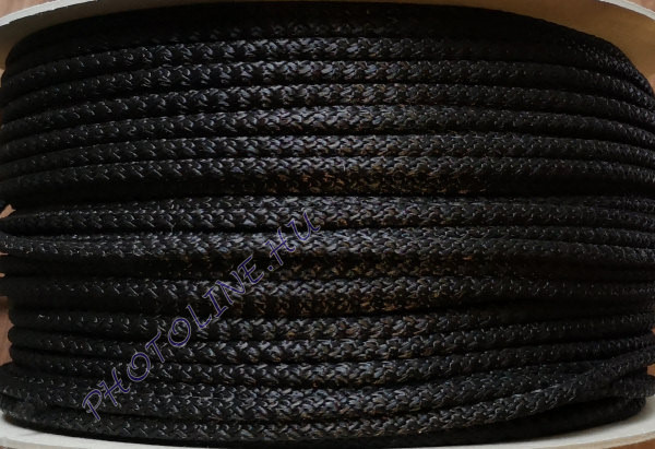 Kötött PP kötél, 7 mm, fekete