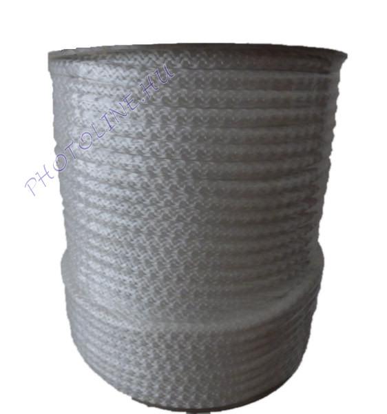 Kötött PP kötél, 7 mm, fehér