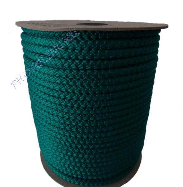 Kötött PP kötél, 8 mm, zöld