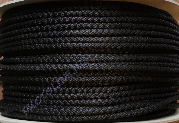 Kötött PP kötél, 10 mm, fekete