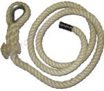 Mászókötél, 8 m, kötélszívvel, akasztóval, végzáróval