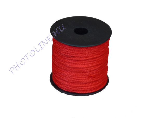 Sodrott zsinór, 1,5 mm, piros (100 m / tekercs)