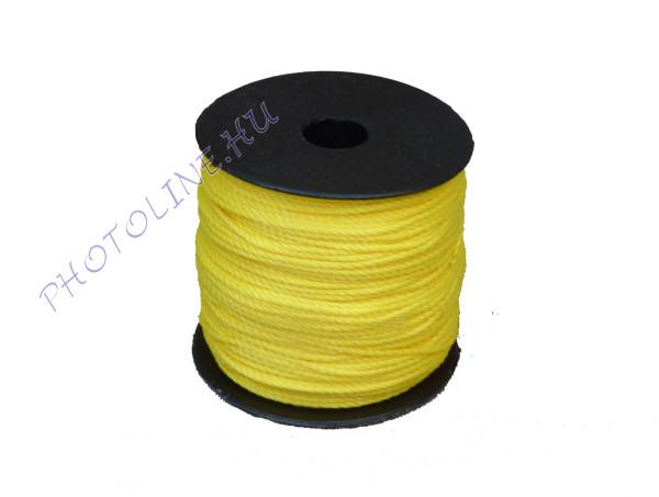 Sodrott zsinór, 1,5 mm, sárga (100 m / tekercs)