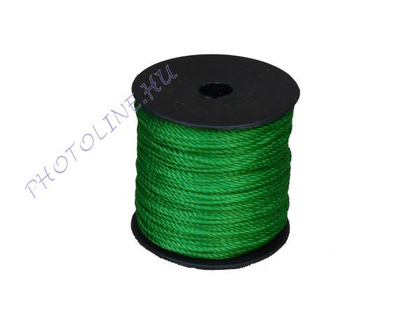 Sodrott zsinór, 1,5 mm, zöld (100 m / tekercs)