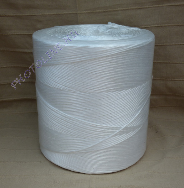 PP kötöző - bálamadzag 3 mm, fehér bálázó madzag, 2 kg