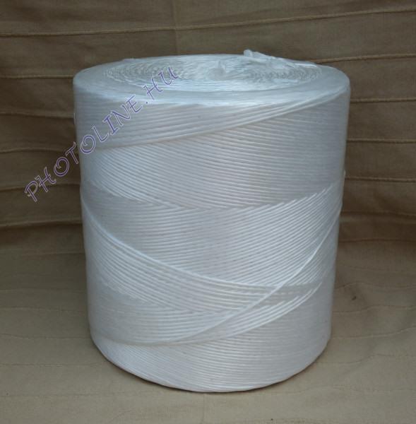 PP kötöző - bálamadzag 3 mm, fehér bálázó madzag, 5 kg
