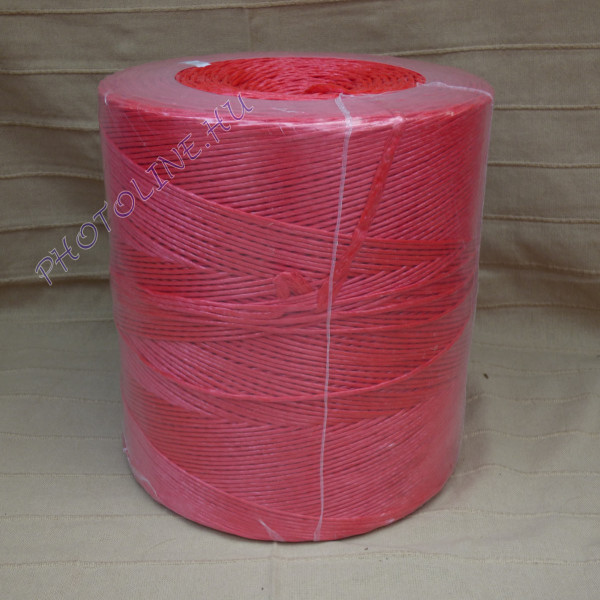 PP kötöző - bálamadzag 3 mm, piros bálázó madzag, 2 kg
