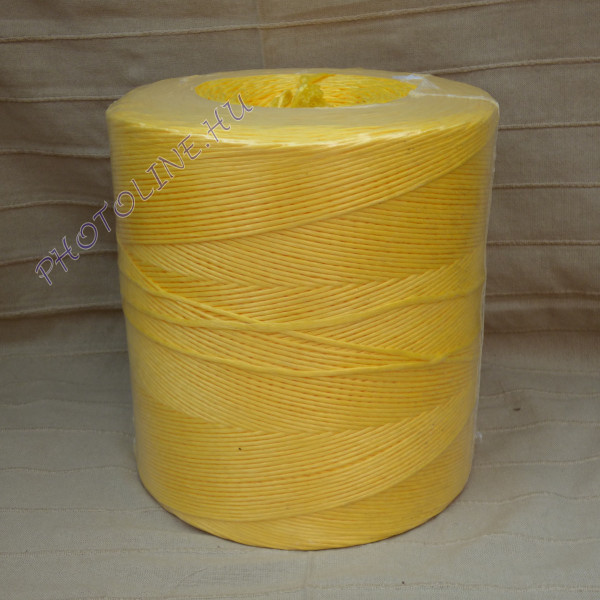 PP kötöző - bálamadzag 3 mm, sárga bálázó madzag, 2 kg