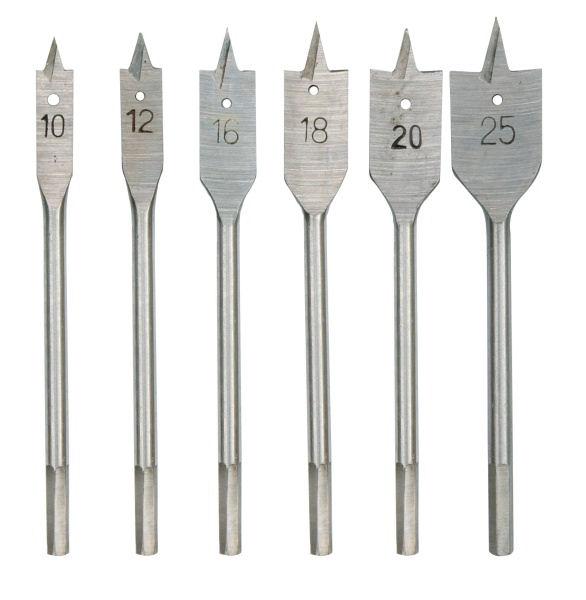 Fafúró szárak 10 12 16 18 20 25 mm lapátos