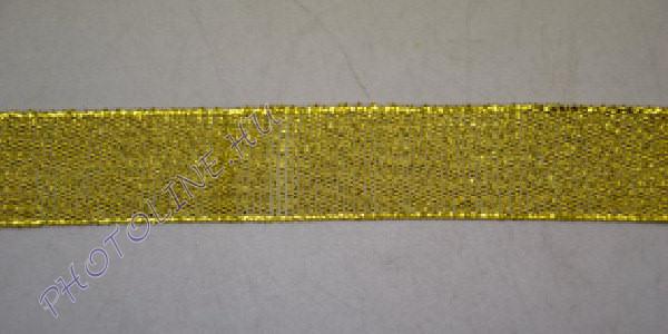 Szatén szalag arany színű, 22 mm széles, 20 m/tekercs