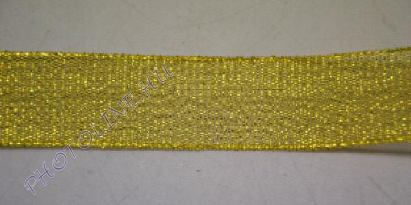 Szatén szalag arany színű, 25 mm széles, 20 m/tekercs