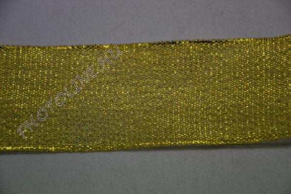 Szatén szalag arany színű, 40 mm széles, 20 m/tekercs