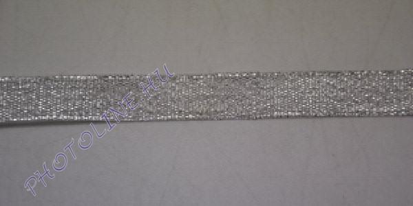 Szatén szalag ezüst színű, 12 mm széles, 20 m/tekercs