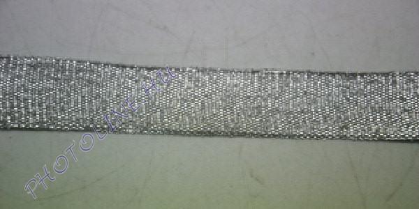 Szatén szalag ezüst színű, 20 mm széles, 20 m/tekercs