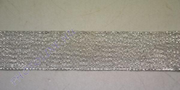 Szatén szalag ezüst színű, 25 mm széles, 20 m/tekercs