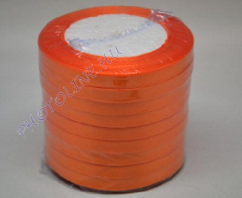Szatén szalag 10 mm, 22 m/tekercs, narancssárga