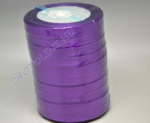 Szatén szalag 10 mm, 22 m/tekercs, lila