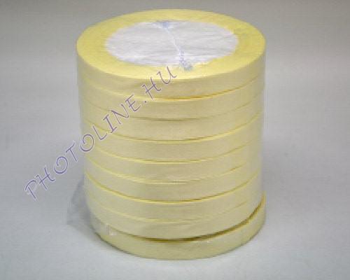 Szatén szalag 10 mm, 22 m/tekercs, krémszín