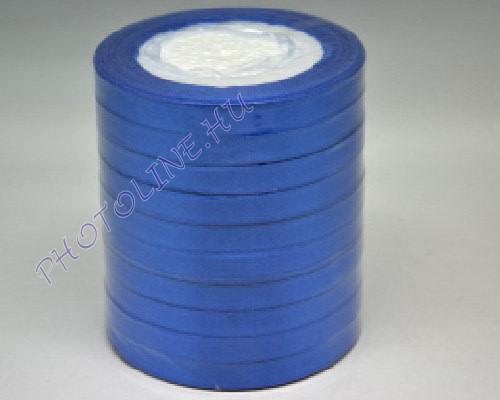 Szatén szalag 10 mm, 22 m/tekercs, kék