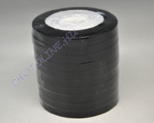 Szatén szalag 10 mm, 22 m/tekercs, fekete