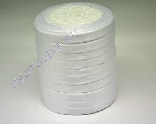 Szatén szalag 10 mm, 22 m/tekercs, fehér