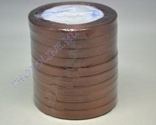 Szatén szalag 10 mm, 22 m/tekercs, barna