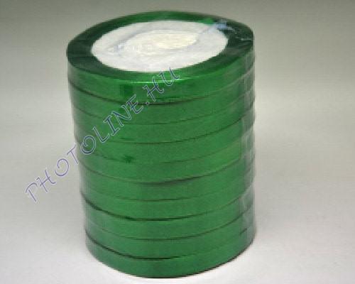 Szatén szalag 10 mm, 22 m/tekercs, zöld