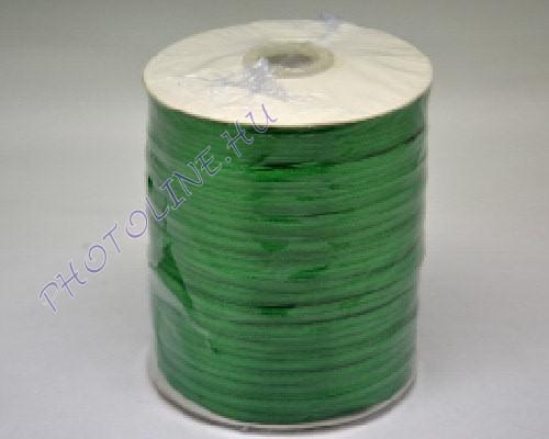 Szatén szalag 3 mm, 800 m/tekercs, zöld