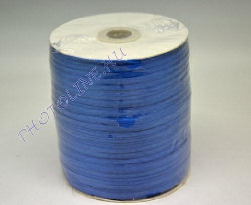 Szatén szalag 3 mm, 800 m/tekercs, kék