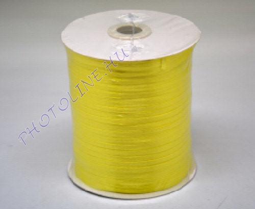 Szatén szalag 3 mm, 800 m/tekercs, sárga