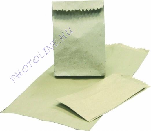 Papírzacskó barna 25dkg, 110x215mm+2x45mm, 55 gr/nm (1000db/csomag)