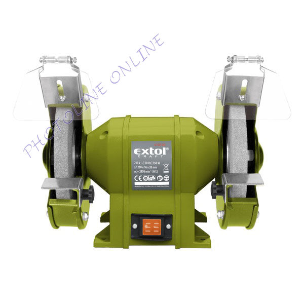 Kettős köszörűgép 350W 200x20x16mm (410130)