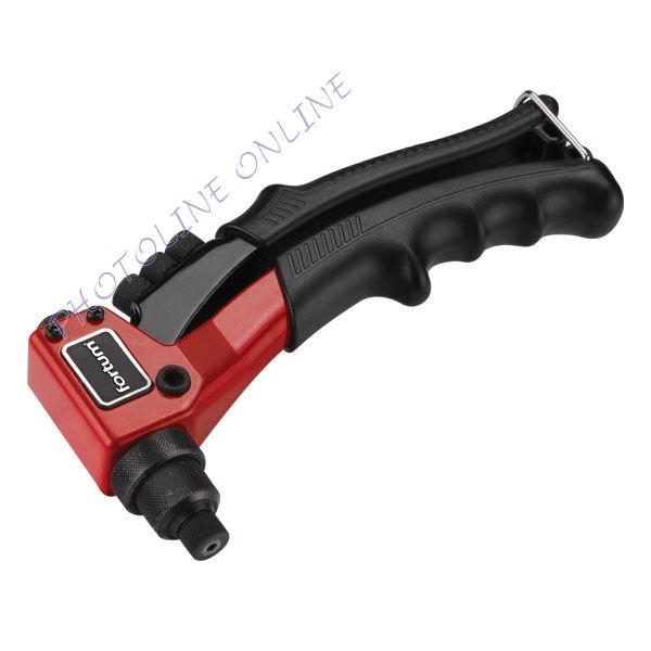 Popszegecshúzó fogó, egykezes 200mm, ALU, réz, acél, INOX szegecsekhez, 2,4-3,2-4,0-4,8mm, CrV-Mo fej (4770600)