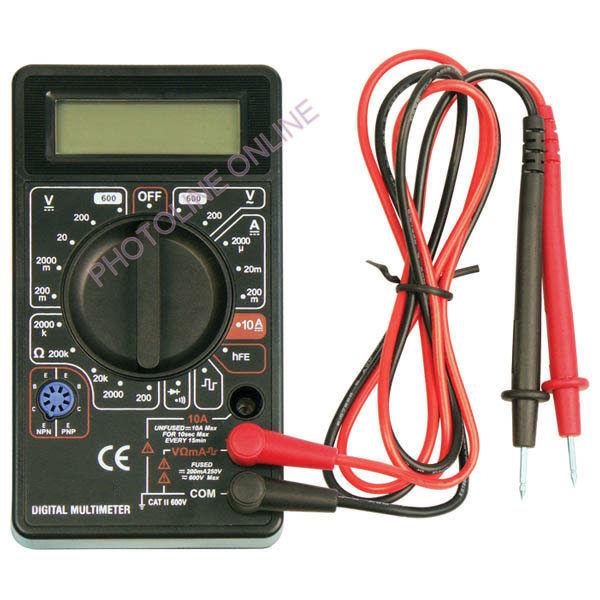 Digitális multiméter: Amper/Volt/Ohm mérő (600011)