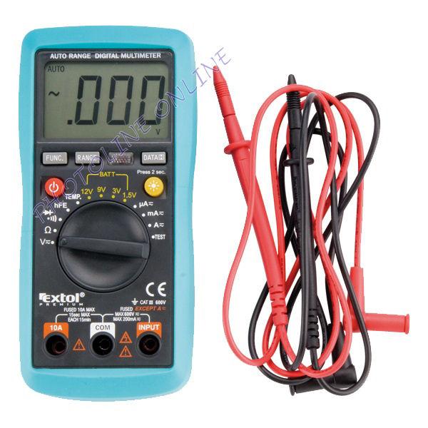 Digitális multiméter profi: Amper/Volt/Ohm mérő, hangjelzés (8831250)