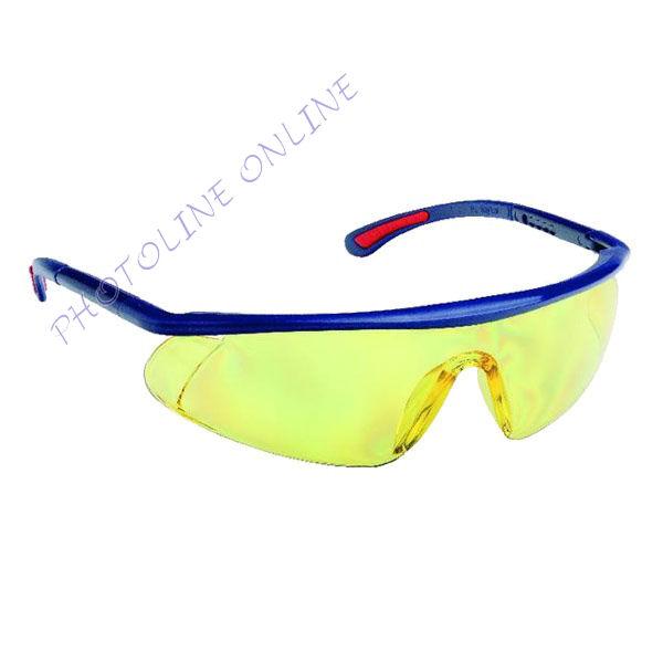 Szemüveg BARDEN sárga AF, AS, UV, állítható szárú, páramentes, karcálló, PC látómezővel
