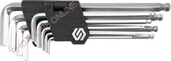 HEX, IMBUSZ Kulcs készlet 2,5-10 mm gömbcsuklós
