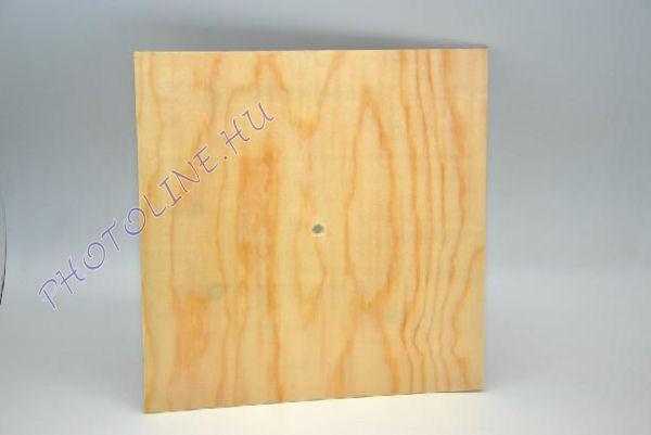 Óralap fából, négyzet forma, 25 cm