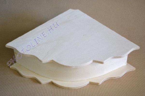 Fa doboz sarok forma 29x21 cm