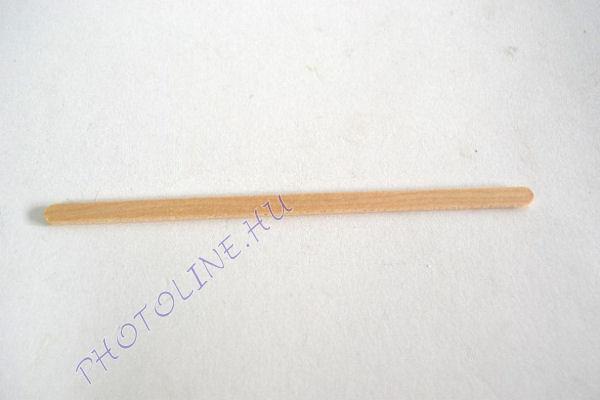 Keskeny fa spatula, mérete: 140x6x2 mm (100 db/cs)