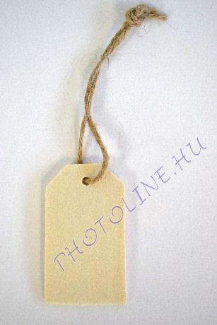 Fa címke, dekorálható 12x70 mm, 16x70 mm