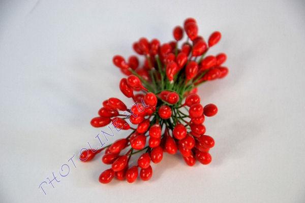 Virágbibe, mérete: 0,50 mm piros (50 szál/csomag)