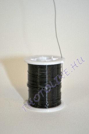 Réz drót fekete színben, mérete: 0,3 mm, 10m/tekercs