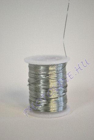 Réz drót ezüst színben, mérete: 0,3 mm, 10m/tekercs